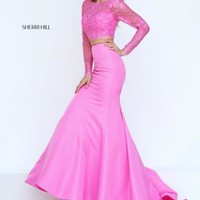 Sherri Hill Taffeta Two Piece Dress 50491
