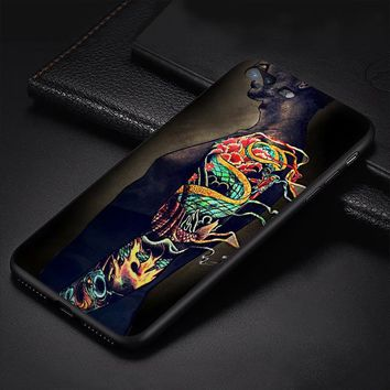 Cool Dragon Tatoo Hard Plastic Cover for iphone case