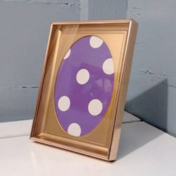 Vintage, 5 x 7, Shadow Box, Picture Frame, Frame, Oval Silhouette Insert, Mid Century, Brass Color, Mantel Decor,  RhymeswithDaughter