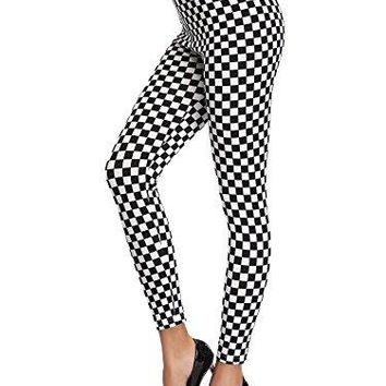 KIRA Womens Buttery Soft Popular High Waisted Printed Fashion Workout Leggings