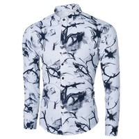 Men's Fashion Shirt Slim Long Sleeve Casual Shirt [10831835843]
