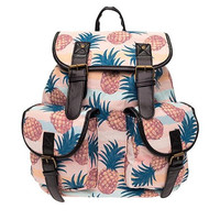 Pineapple Backpack School Book Bag Sports Daypack