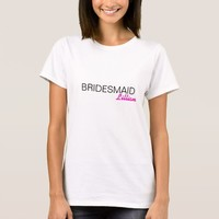 Personalized Bridesmaid Women's T-Shirt