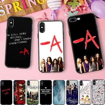 Minason For iPhone X Case Pretty Little Liars Soft Silicone Phone Cover Case For iPhone 6 6S 7 8 Plus 5 5S SE Coque For Women