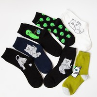 35-43 Mid Crew Socks Lord Nermal RIPNDIP Alien Cat ET Pop-Up rip n dip Spaced WE OUT HERE Skater come in peace Men Road Trip