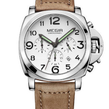 Megir Low-Fly Chrono (White)