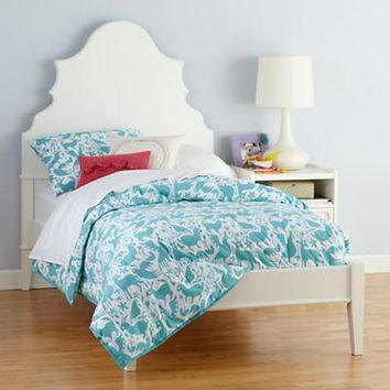 Kids' Beds: White Oversized Headboard with Beveled Curves in Beds | The Land of Nod