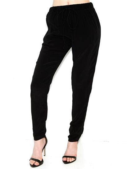 Olivaceous Drawstring Pants In Black