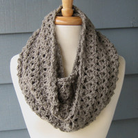 Shelley Infinity Scarf 66 inches Crochet Cowl by ArtsyCrochet