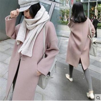 And Winter 11 11 Fashion Pure Wool Coat And Long Sleeved Long Woolen Coat Female Free