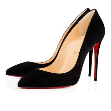Best Online Sale Christian Louboutin Cl Pigalle Follies Black Suede 100mm Stiletto Heel 14w
