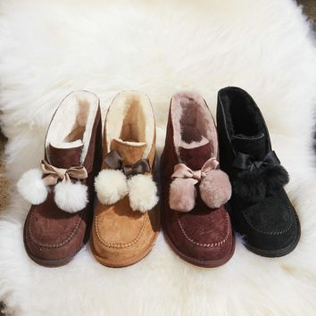 UGG Women's KALLEN Pom Pom Shoes