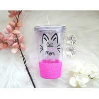 Cat Mom Tumbler (Acrylic)
