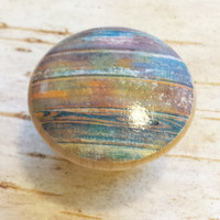 Distressed Wood Knob Drawer Pulls, Beautiful Color Tones, Old Wood Cabinet Handles,  Reclaimed Wood, Made To Order, Style 11