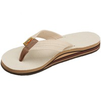 Women's Rainbow Sandals Hemp Double Stack Wide Strap