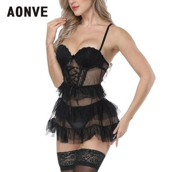 AONVE Women Steampunk Corset Sexy Corselet Lace Sexy Mesh Corset Underwear Sexy Lingerie Dress Push Up Cosplay Wear for Party