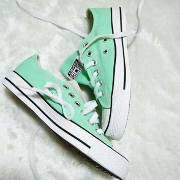 Converse All Star Sneakers canvas shoes for Unisex sports shoes low-top mint green-2