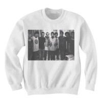 1D & 5SOS GROUP PORTRAIT SWEATSHIRT CELEBRITY SHIRTS INDIE BAND SHIRTS INDIE MUSIC COOL BANDS from CELEBRITY COTTON