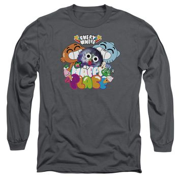 Amazing World Of Gumball - Happy Place Long Sleeve Adult 18/1 Officially Licensed Shirt