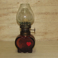 Vintage Mini Oil Lamp, Unique Mini Kerosine Lamp, Old Mini Lamp, Collectibles Mini Kerosene Lamp, Gift Idea