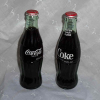 TWO UNOPENED CLASSIC Coke Bottles 6.5oz Collectibles