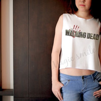 The walking dead style - Premium cotton  Crop tank, Tank Top, T-shirt, Long sleeve, unisex shirt, women tank, girl tank