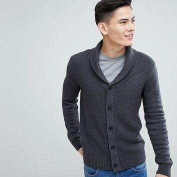 Kiomi Cardigan With Shawl Collar In Grey at asos.com