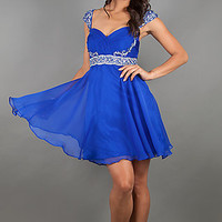 Short Cap Sleeve Cocktail Dress by Dave and Johnny 10070