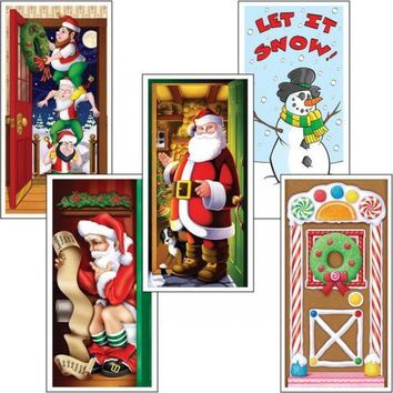 Christmas Door Covers Decoration Adult Christmas