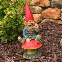 "Adam with Butterfly Garden Gnome - 14"" Tall"