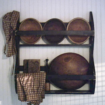 Dough Bowl Rack Primitive Wooden Farmhouse by FirecrackerKid