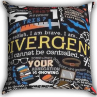 colorful divergent quotes Zippered Pillows  Covers 16x16, 18x18, 20x20 Inches