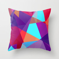 Decorative Pillow Covers, Jewel Tone Geometric Print Modern Pillow Cover
