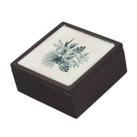 Tropical leaves bouquet keepsake box