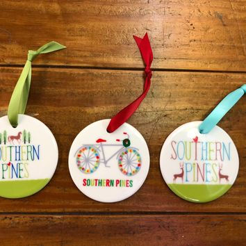 Southern Pines| My Town Ceramic Ornament I 3 Styles