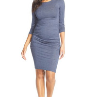 'Presley' Ruched Body-Con Maternity Dress