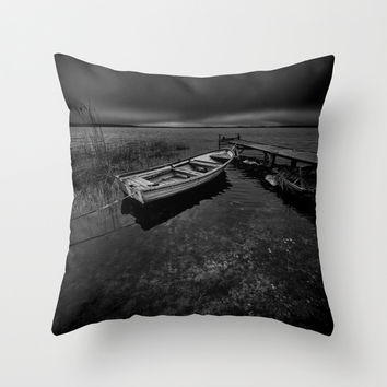 On the wrong side of the lake 7 Throw Pillow by HappyMelvin