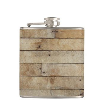 Wood Look Hip Flask