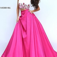 Two Piece Sherri Hill Long Ball Gown