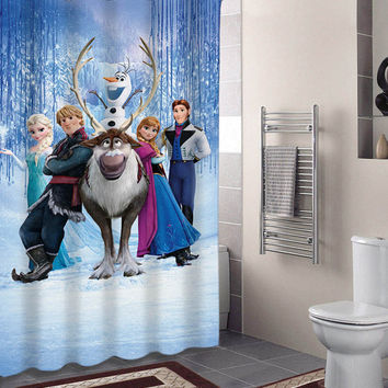 disney frozen specials custom shower curtains that will make your bathroom adorable.