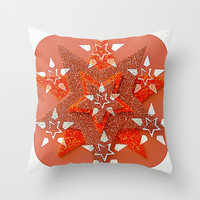 Superstars Throw Pillow by Jensen Merrell Designs