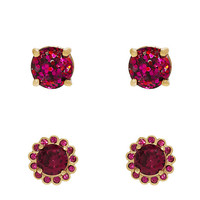 Kate Spade Flower Glitter Stud Set Pink Multi ONE