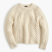 J.Crew Womens Collection Chunky Cable Sweater