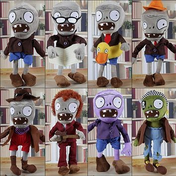 1pcs Plants vs Zombies Plush Toys 30cm Plants vs Zombies PVZ 2 Zombies Plush Soft Stuffed Toys Doll for Kids Children Xmas Gifts
