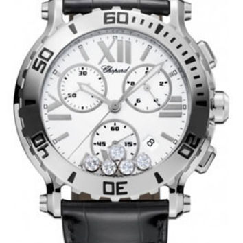 Chopard - Happy Sport - Chrono - Stainless Steel - 5 Mobile Diamonds