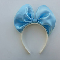 Minnie Mouse Bow Headband in Cinderella blue