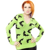 SOURPUSS BATTY SWEATER GREEN