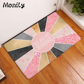 Autumn Fall welcome door mat doormat Monily Nordic Waterproof Anti-Slip Geometry  Cartoon Letters Carpet Bedroom Rugs Decorative Stair Mats Home Decor Crafts AT_76_7