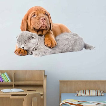 dog Wall Decals cat wall decor Animals wall Decals dogs Full Color Decals dog Art Sticker veterinary clinic decor Home Decor cik2232