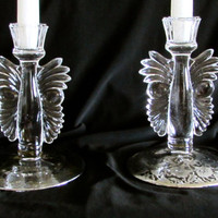 Single Candle Holder Set, Silver Morning Glory Overlay Candlestick Holders, Home Decor, laslovelies